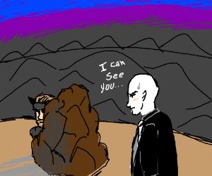 bald kid finds snek