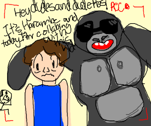 Harambe as a Youtuber.