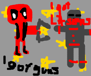 Deadpool vs robot showdown