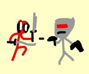 Deadpool vs robo cop