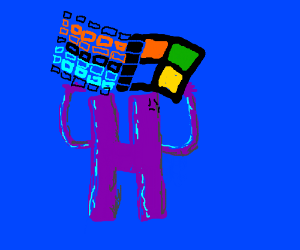 'h' is capable of supporting windows 95