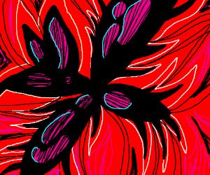 Fiery swirls