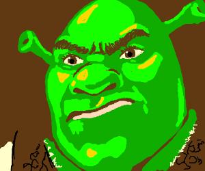 Shrek is mad