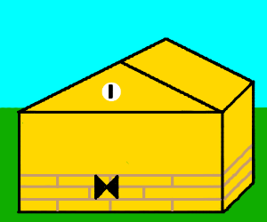 bill cipher as a house