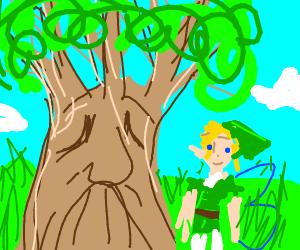 Tree man with a leaf fairy