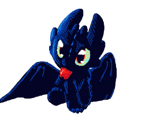 Chibi Toothless (HTTYD)