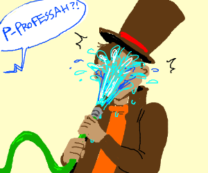 The professer is hosed