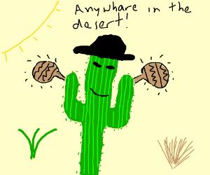cactus with maracas