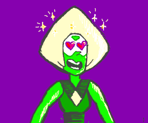 Peridot(Steven Universe)with heart eyes