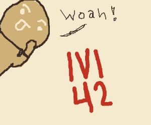Astonished at level 42