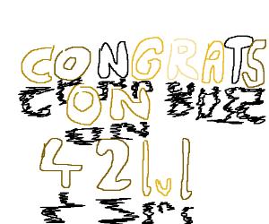 42 lvl celebration