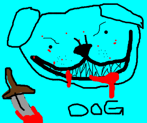 Weird blue dog that killed a man