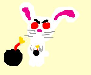 evil bunny has a bomb!