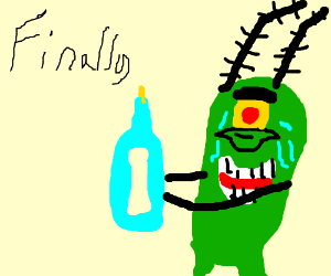 Plankton's success and tears of joy