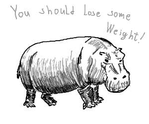 Hippo tells you to lose weight