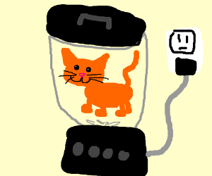 Cat in a blender - Drawception