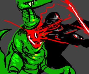 darth vader decapitating raptor