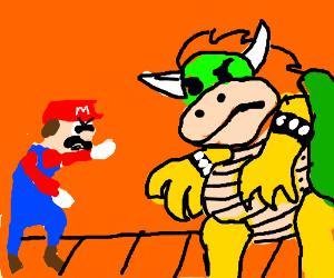 Mario vs Bowser- the showdown