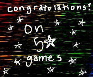 Congratulations on level 50!