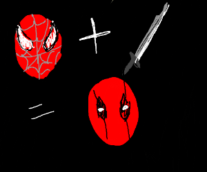Spiderman + sword = Deadpool