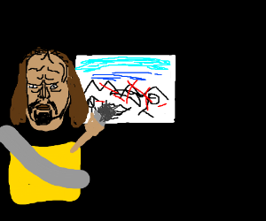 Worf does painting