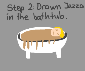 Step 1: fill bathtub with cookie dough.
