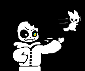 Sans seeks revenge for bite out of his head