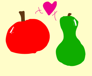 Apple and pear in love
