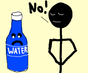 Water bottle is rejected :(