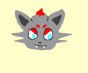 Orange Grey Wolf Pokemon Maybe Drawing By Jessiealloverx
