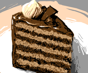 (a REALLY well drawn) chocolate cake