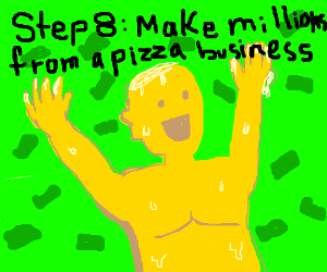 step 7: take your cheese body and make a pizza