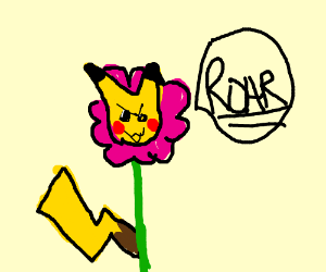 Pikachu the roaring Petunia