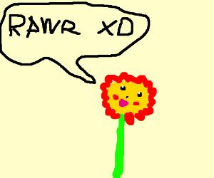 "flower pikachu says ""RAWR XD"""