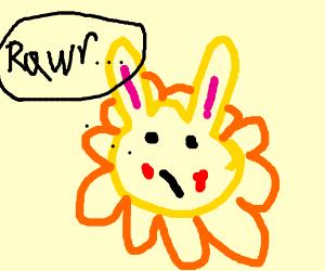Pikachu as a lion