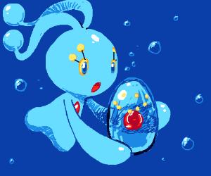 Manaphy with a Manaphy Egg (Pokemon)