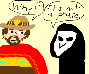 """mccree asking a dead person """"why"""""""