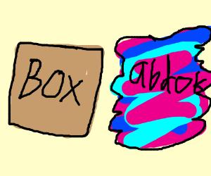 """A box and """"abdok"""""""
