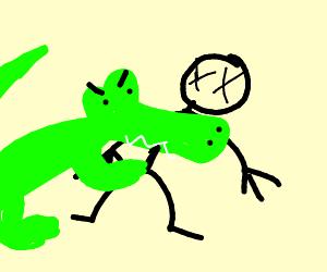 Tragic death: guy eaten by crocodile