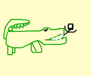 kid being eaten by a crocodile