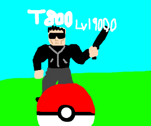 Terminator (T800), but as a Pokemon