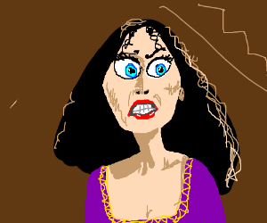 Mother Gothel looks displeased