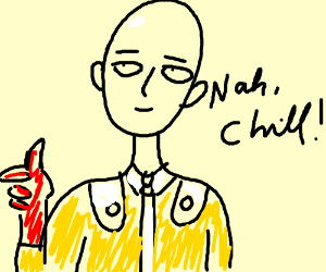angry One Punch Man