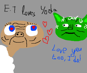 E.T. and Yoda fall in love
