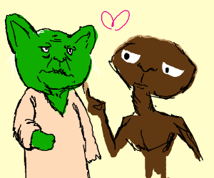 Yoda and ET are in love