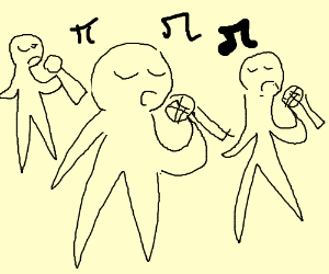 couple of people singing