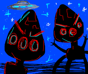 Chicken Little Alien Parents Drawing By Mac Jr Drawception