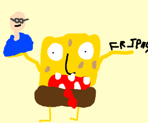 "Spongebob holding Bill Gates and ""friens"""