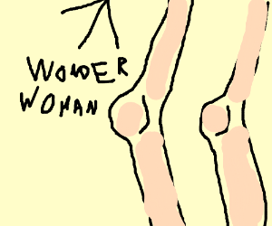 Wonderwoman's knee