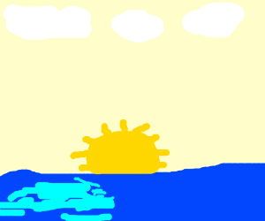 Sunset above the ocean